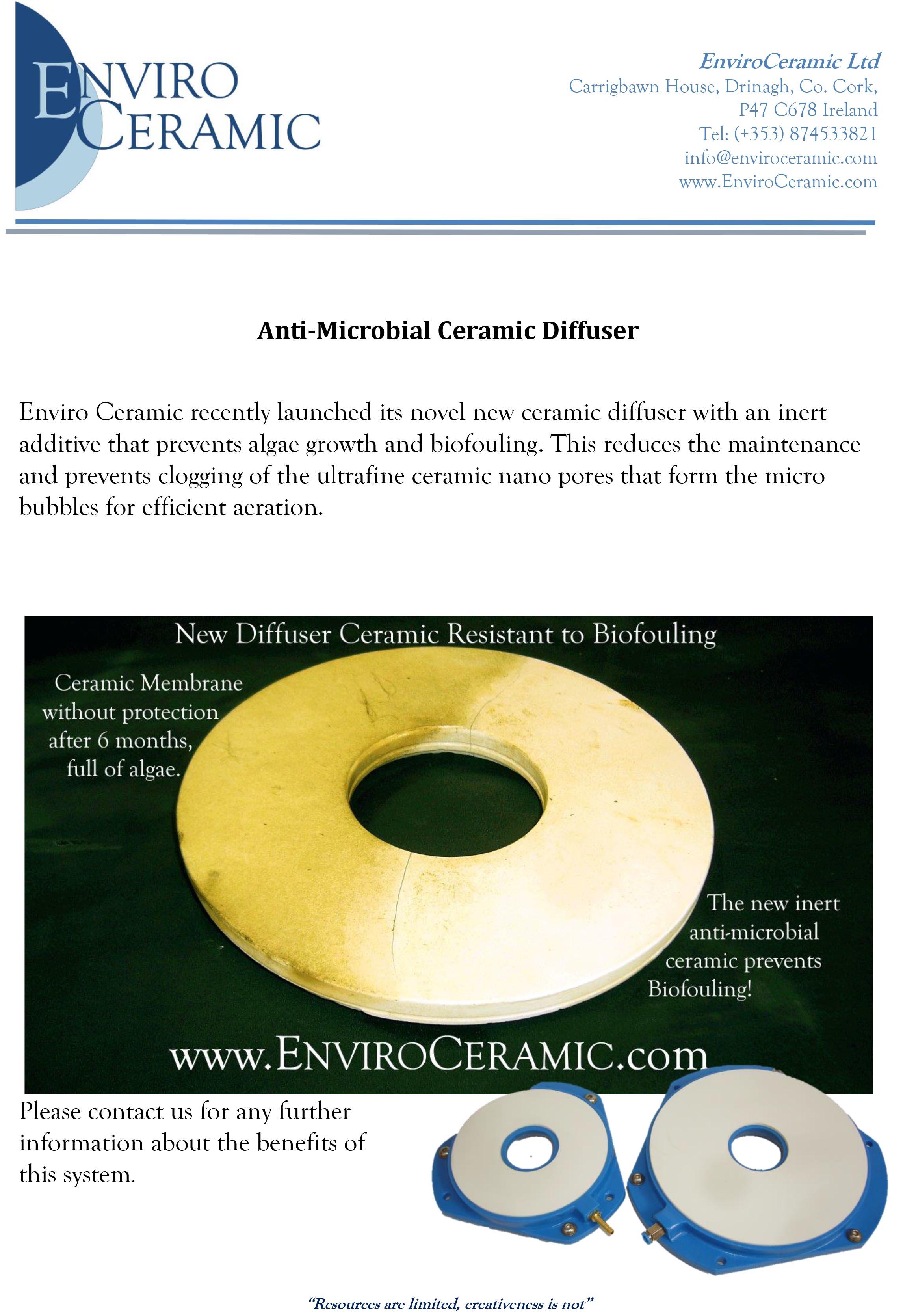 Anti-Microbial Ceramic Diffuser